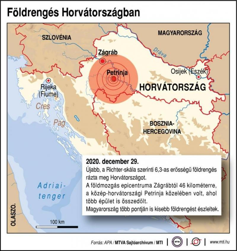 Földrengés rázta meg Horvátországot, Pécsett is érezni lehetett, anyagi károk is keletkeztek