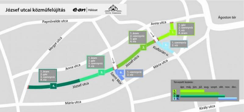 Nehezebb lesz a közlekedés Pécs belvárosában! Felújítják a József utca teljes közműhálózatát
