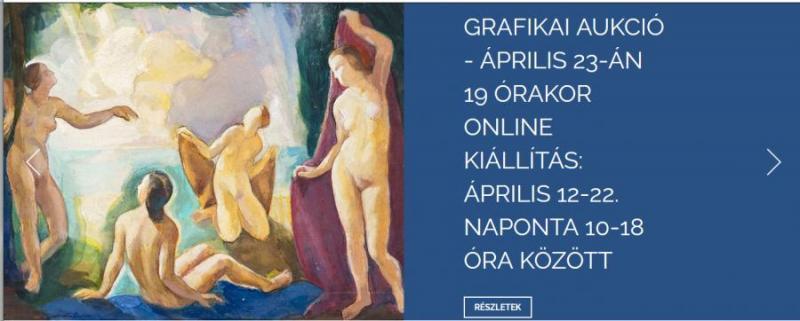Grafikákból és kortárs művekből rendez online tematikus árveréseket a Virág Judit Galéria