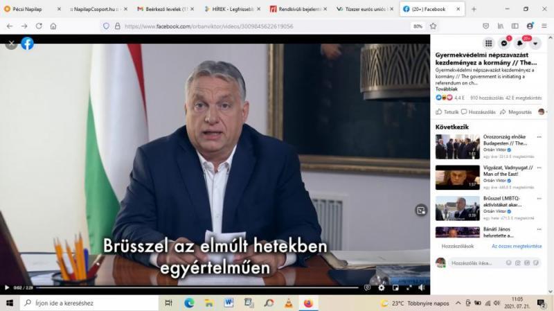 Orbán Viktor népszavazást jelentett be a gyermekvédelemmel kapcsolatban